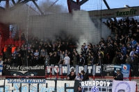 Rauch im Block des MSV Duisburg auswärts beim 1. FC Union Berlin