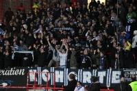 Fans des MSV Duisburg in Berlin im Stadion An der Alten Försterei