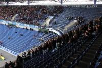 Ruhiger Dienst: Polizei beim Spiel MSV Duisburg - Eintracht Frankfurt