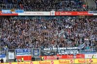 Fans des MSV Duisburg beim Heimspiel gegen Eintracht Frankfurt