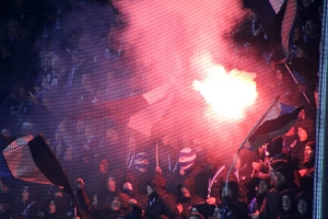 Kohorte Duisburg Fans Pyro in Bochum 2019