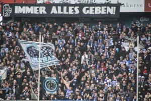 MSV Fans Support gegen Bielefeld