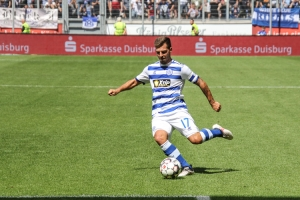 Spielszenen Duisburg gegen Bochum 11-08-2018