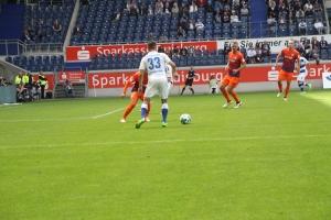 Spielszenen Duisburg gegen Bochum August 2017