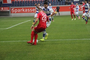 Spielszenen MSV Duisburg gegen Arminia Bielefeld Februar 2018