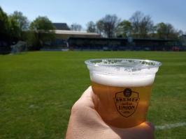 Ein Bier beim Bremer SV