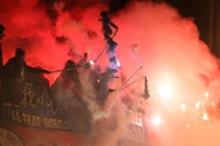 Babelsberger Pyroshow beim Spiel gegen Partizan Minsk