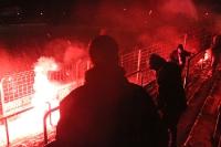 Bengalos am laufenden Band bei Babelsberg vs. Partizan Minsk
