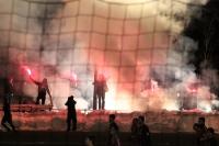 Bengalos und Rauch bei Babelsberg 03 gegen Partizan Minsk