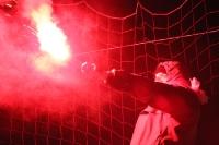 Pyrotechnik bei Babelsberg 03 gegen Partizan Minsk