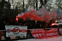 Pyrotechnik beim Spiel Tebe gegen Partizan Minsk