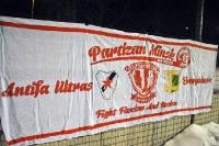 Zaunfahnen bei Babelsberg 03 vs. Partizan Minsk