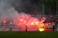 Ultras des SV Babelsberg 03 zünden Pyrotechnik im Karli
