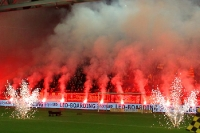 Pyrotechnik beim Spiel Vitesse Arnhem - Feyenoord Rotterdam im GelreDome
