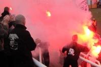 Pyrotchnik beim BFC Dynamo im Sportforum Berlin-Hohenschönhausen