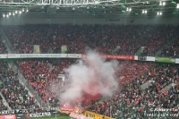 Ultras & Fans des 1. FC Köln zündeln bei Borussia Mönchengladbach