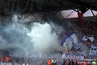 Mächtig Rauch im Gästeblock: Hertha BSC beim 1. FC Union Berlin