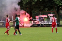 Pyrotechnik beim Spiel SV Babelsberg 03 II gegen SV Falkensee-Finkenkrug