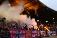 Pyrotechnik beim Berliner Pokalfinale Stern 1900 - BFC Dynamo