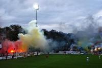 Pyrotechnik beim Testspiel Babelsberg 03 vs. FC St. Pauli, 13. Juli 2012