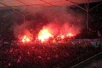 Pyrotechnik in der Unionkurve bei Hertha BSC