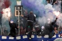 Ultras des SV Babelsberg 03 zünden Pyrotechnik (Testspiel St. Pauli)