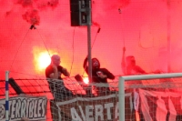 Ultras St. Pauli (USP) zünden kräftig Pyrotechnik (Testspiel Babelsberg 03)