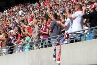 Fans von RB Leipzig beim Duell gegen Lok