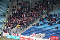 Fans von RB Leipzig zu Gast in der MDCC-Arena des 1. FC Magdeburg