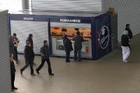 Merchandise-Stand von RB Leipzig in der Red Bull Arena
