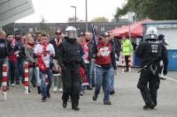 Mit Polizeischutz: Abreise RB Leipzig Fans in Bochum