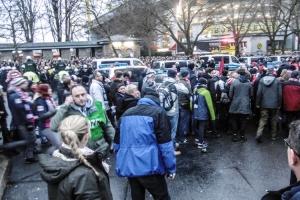 RB Leipzig trifft am Dortmunder Stadion ein