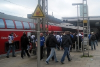 Ankunft der Rostocker Fans in Hamburg-Altona, 22. April 2012
