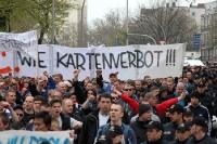 Fandemo des FC Hansa Rostock in Hamburg auf dem Pepermölenbeck
