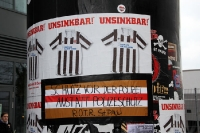 Protest der Ultras des FC St. Pauli