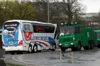Mannschaftsbus des FC Hansa Rostock