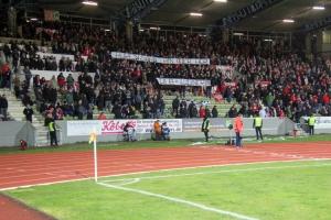 RWE Fans Spruchband gegen Hopp und DFB