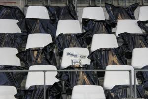 Abgedeckte Sitzschalen Rot-Weiss Essen vs. Fortuna Düsseldorf 02-10-2020