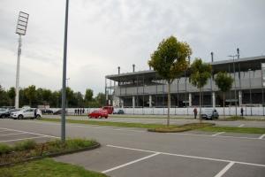 Corona Maßnahmen vor RWE gegen Fortuna 02-10-2020