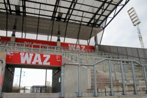Westtribüne Stadion Essen Dezember 2020