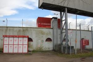 Gästeblock, Kanalkurve Stadion Niederrhein Corona 27-03-2021