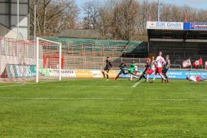 Simon Engelmann Tor RWO gegen RWE 27-03-2021 Spielszenen