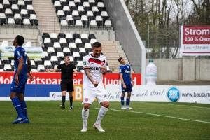 Steven Lewerenz Torjubel Rot-Weiss Essen gegen Schalke 03-04-2021