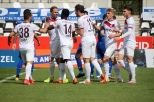 Dennis Grote Tor Rot-Weiss Essen gegen Schalke  03-04-2021