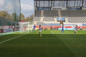 Isaiah Young Torjubel Rot-Weiss Essen vs. Schalke 04 II Spielszenen 03-04-2021