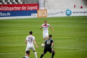 Dennis Grote Rot-Weiss Essen vs. Bergisch Gladbach 11-04-2021 Spielszenen