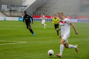 Cedric Harenbrock Rot-Weiss Essen vs. Bergisch Gladbach 11-04-2021 Spielszenen