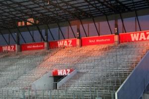 Westkurve Essen Sonne RWE vs. SV Straelen Niederrhein-Pokalhalbfinale 19-05-2021 Spielszenen