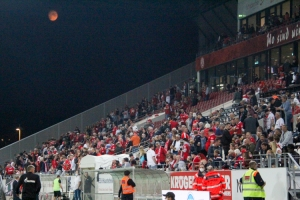 Mond Rot-Weiss Essen Fans im Spiel gegen Schalke 04 U23 17-09-2021