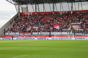 Trauerbanner Rot-Weiss Essen vs. SC Wiedenbrück Spielfotos 16-10-2021